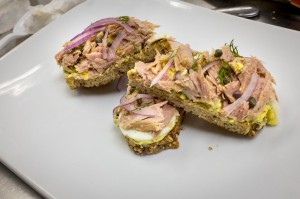 Smoked tuna on toast